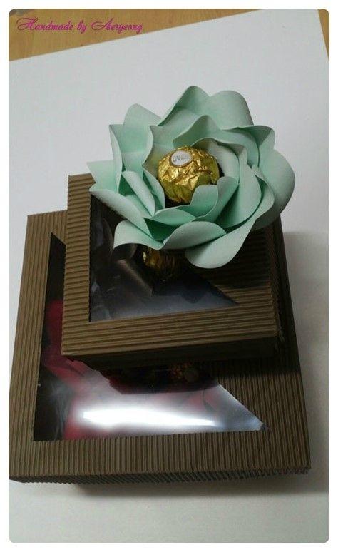 초콜릿을 품은 장미 (아트플라워 조화공예 한지꽃 지화 종이꽃 페이퍼플라워 코사지 에바폼) : 네이버 블로그