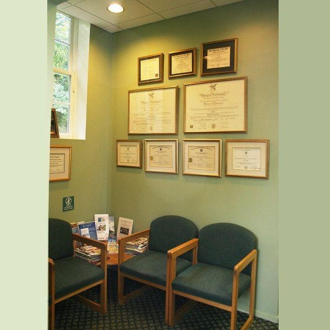 #Waitingarea and accolades display at Cazes Family Dentistry, LLC