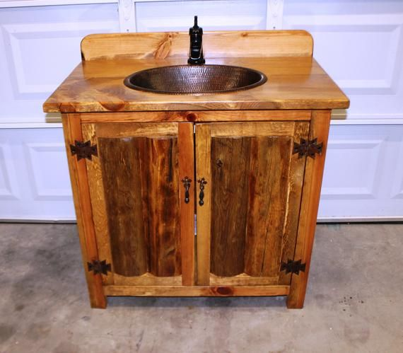 This Rustic Bathroom Vanity Is 36 Inches Wide And Built With Old
