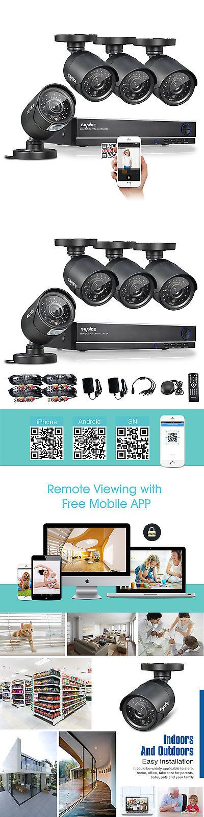Surveillance Security Systems: Sannce 4Ch 1080N Dvr Video Record 1500Tvl Outdoor Hd Home Security Camera System -> BUY IT NOW ONLY: $89.99 on eBay!