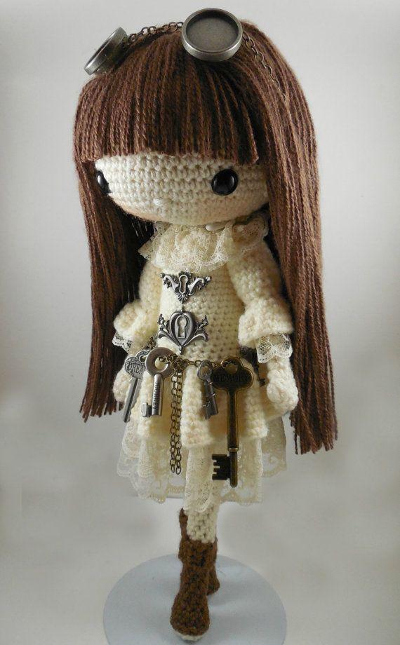 ❤ Antonia-Steampunk-Amigurumi Doll Crochet Pattern PDF by CarmenRent