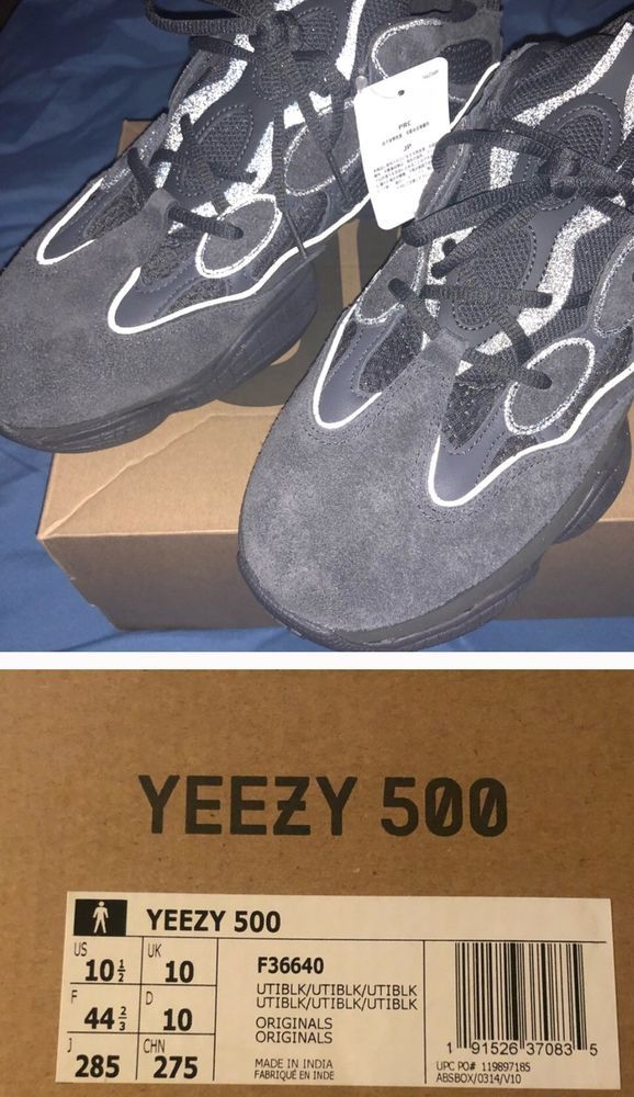 54ba789c077f94 ADIDAS YEEZY 500 UTILITY BLACK F36640 SIZE 10.5 DS  fashion  clothing  shoes   accessories  mensshoes  athleticshoes (ebay link)