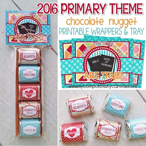 Nugget Gift Ideas Apparel: 2016 PRIMARY Theme Nugget Wrappers, I Know The Scriptures