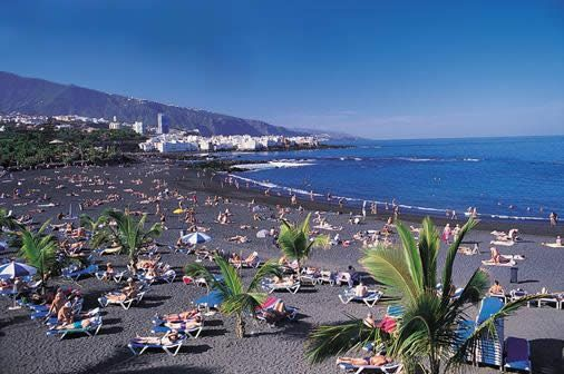 Tenerife - black sand beaches.