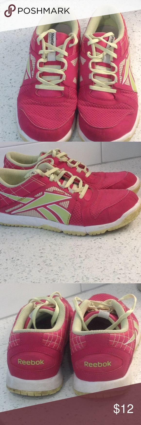 Reebok shoes Some wear as shown in pictures and reflected in price. Plenty of wear left. Reebok Shoes Athletic Shoes