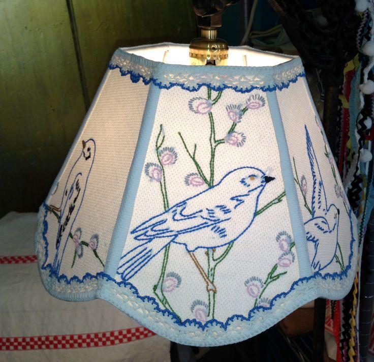 Bird Lamp Shades: Lamp Shade Uno Bird Lampshade, 7x12x8 Bridge Lampshade
