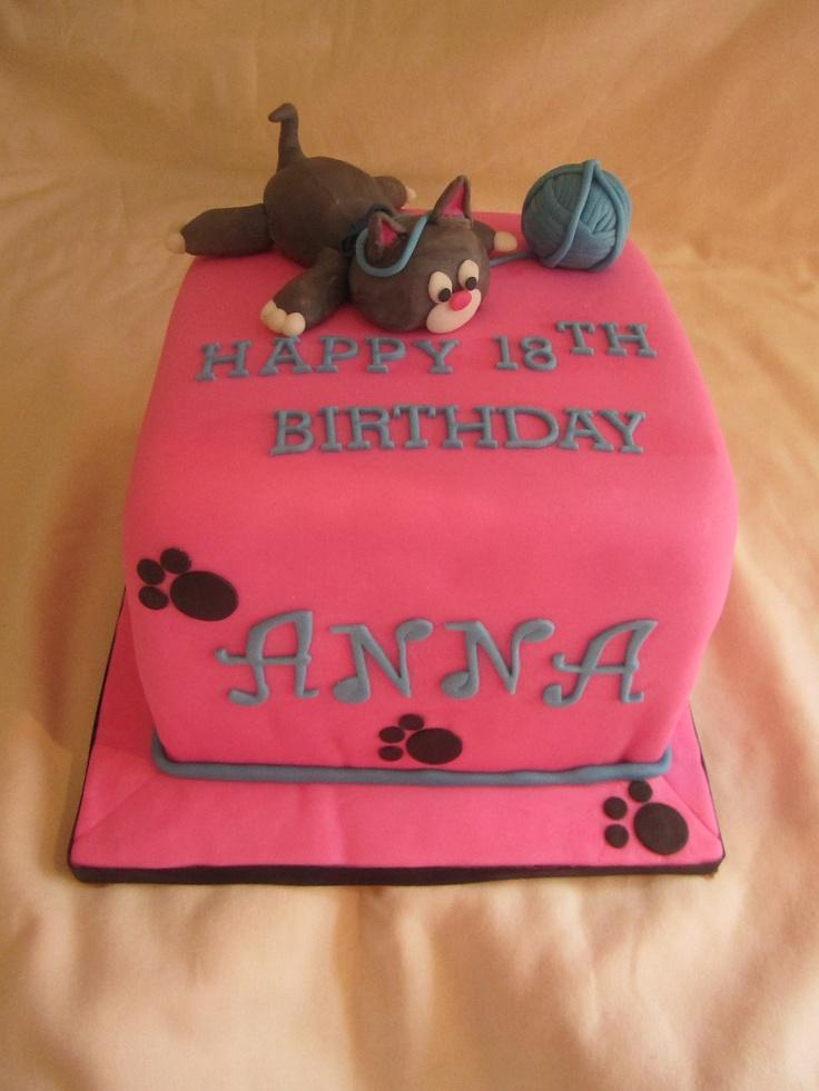 47 best kitty cat cake images on Pinterest Cat cakes Birthday