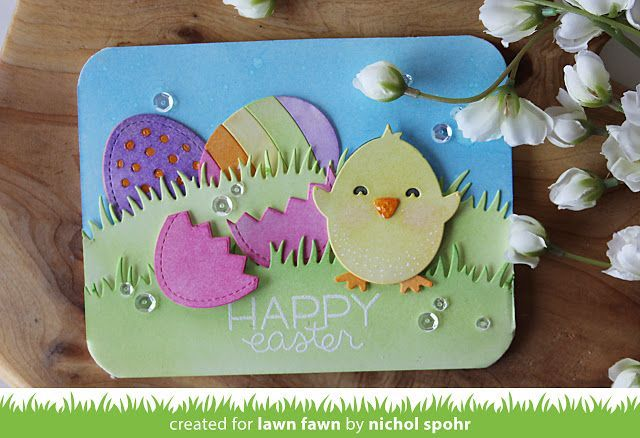 Lawn Fawn Intro: Hoppy Easter, Happy Hatchling + Easter Border