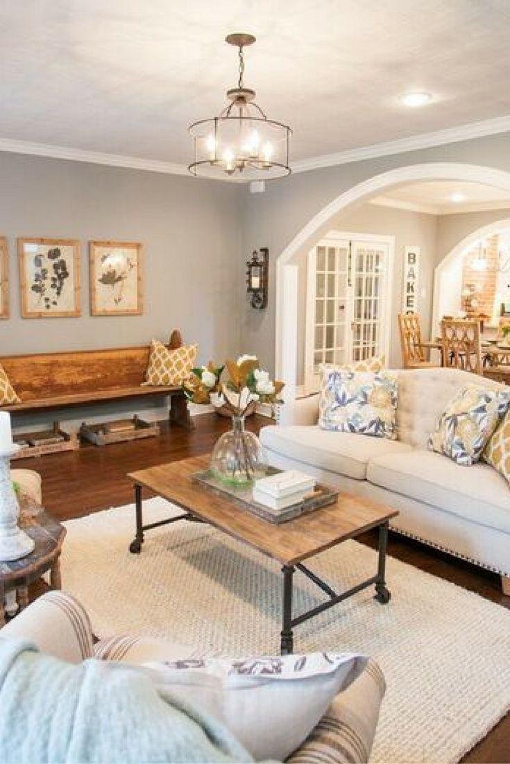 lighting for living rooms modern room paintings fixer upper the brick house vintage farmhouse feel decor