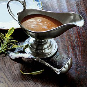 Easy Flavorful Turkey Gravy. Pan drippings, broth, butter and flour, it's that easy.