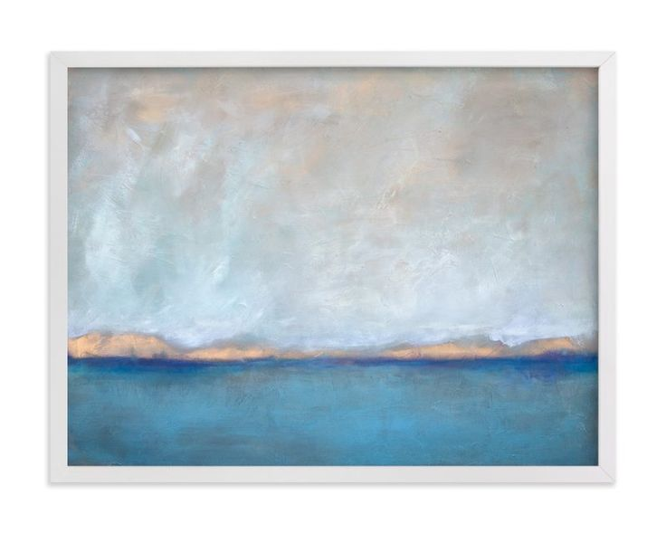 """""""Linen Coast"""" - Art Print by Julia Contacessi in beautiful frame options and a variety of sizes."""
