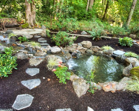435 best images about pond and garden landscaping on for Pond shade ideas