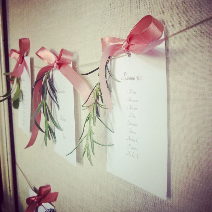 Aromatic herbs erbe aromatiche nel tableau de mariage table plan