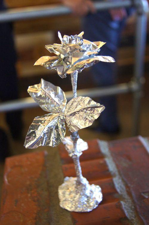 Tin Foil Sculptures - rose