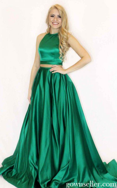 dc7bba68bbb Emerald Sherri Hill 51883 Two Piece Long Prom Dress