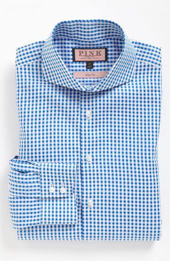 Thomas Pink Slim Fit Dress Shirt | Nordstrom blue