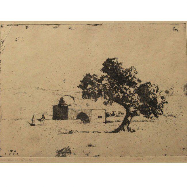 Hermann Struck - Rachel's Tomb IV, Etching, 1927. : Lot 50