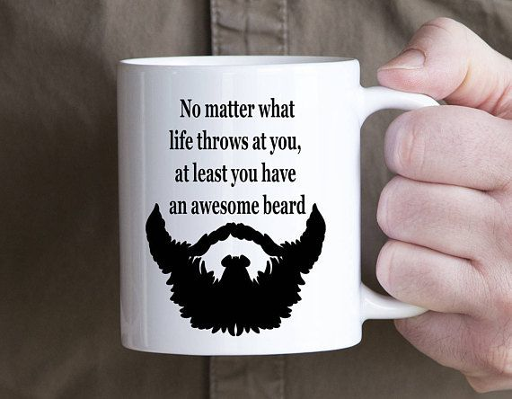 Beard Mug For Men Funny Coffee Cup For Guys No Matter What