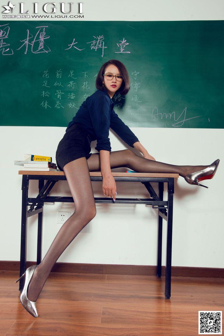 [Ligui丽柜] AMY - 教室里的黑丝女教师_第7页/第5张图