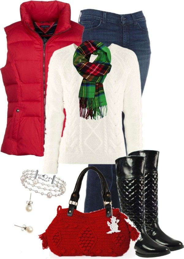 """I love this! Can I wear this everyday? """"Red & Green 2"""" by happygirljlc on Polyvore"""