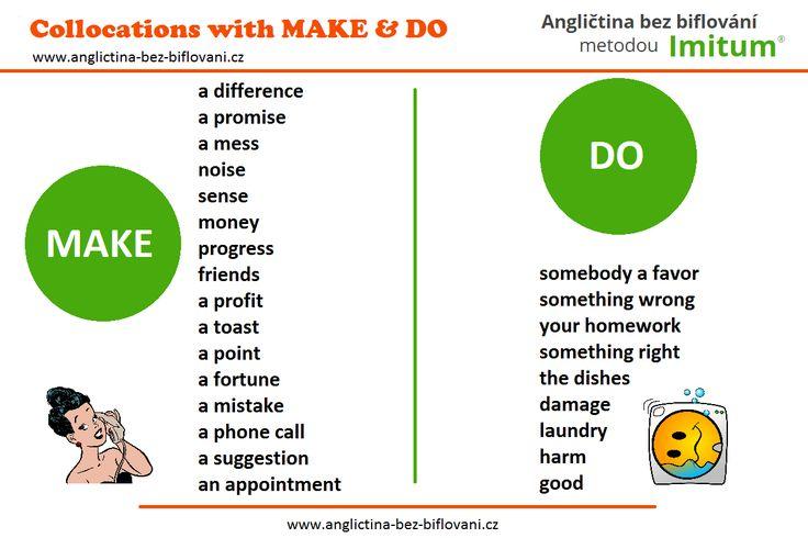 V angličtině existuje spousta ustálených spojení se slovesy MAKE a DO...