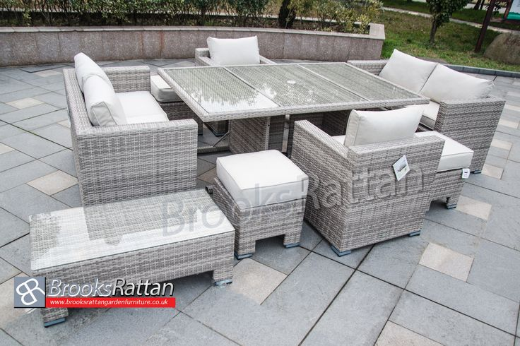 Great Deal !! Free Delivery !! HURRY UP 6 Seat Sofa Lounge Cube with Armchairs, Footstools and Coffee Table + 10 Years Guarantee !! 25% discount applied directly on checkout !! Buy Now: http://www.brooksrattangardenfurniture.co.uk/cube-sets/champagne-5-seat-sofa-lounge-cube-armchair-footstool-and-coffee-table-in-mixed-grey-rattan.html #Furniture #Sale #Essex #UK