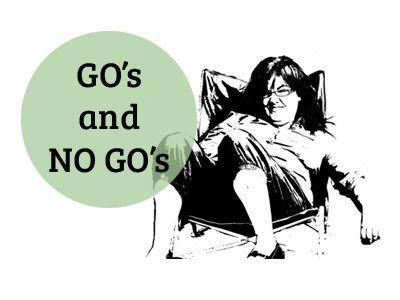 Go's and no Go's : vejledning          Når du tager fotos til at redigere til dine PopArt malerier, er der nogle ting bare du IKKE skal gøre og