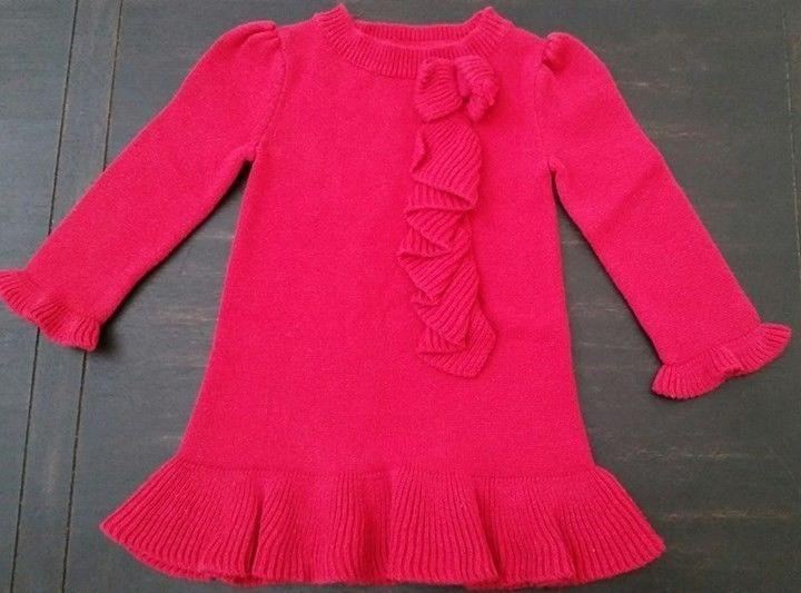 Toddler Baby Girl BABY GAP Roman Getaway Red Sweater Dress 12-18 ...