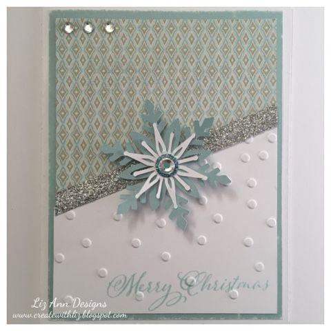Create with Liz: Snowflake Merry Christmas Card using Artistry