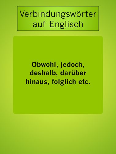 Jedoch Englisch