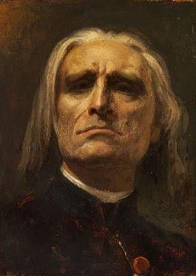 A portrait of the composer Franz Liszt (1811 -1886) by Mihály Munkácsy