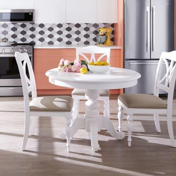 Summer 5 Piece Dinette Set Oyster White Dinette Sets Dinette Modern Dining Room