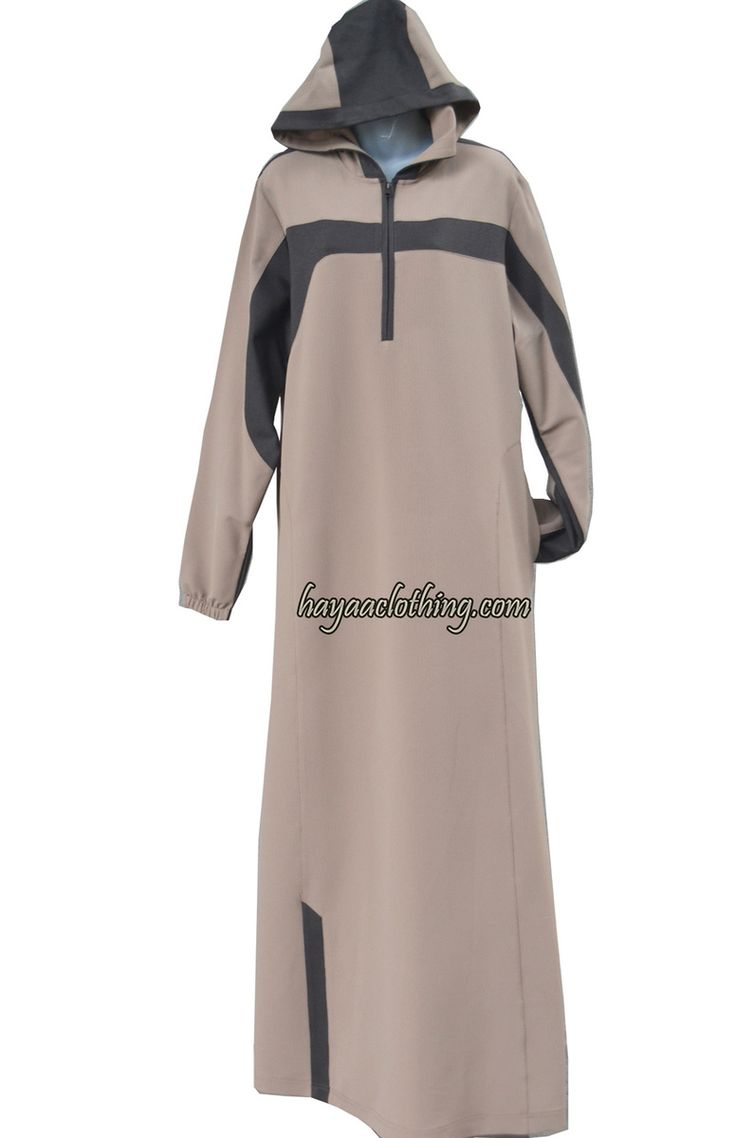 Hayaa Clothing - DALIA Casual Sporty Abaya Choco Cocoa, $65.00 (http://www.hayaaclothing.com/dalia-casual-sporty-abaya-choco-cocoa/)