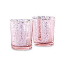 Kate Aspen® Light Pink Mercury Glass Tealight Holder, 16 Pack
