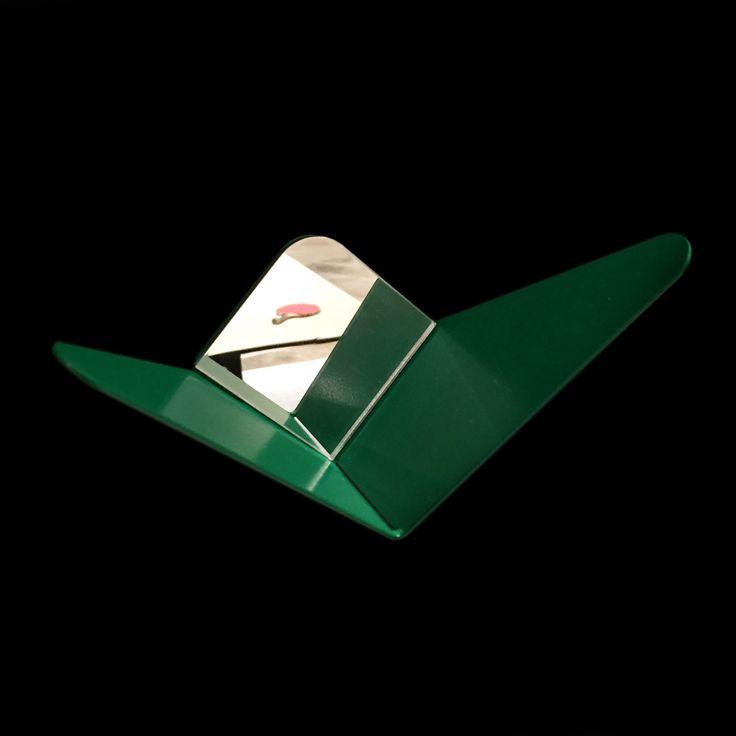 Green Butterfly with a mirror #mwa #makerswithagendas #mwadesign #agendadrivendesign #mwagram #multiuse #minimallogistics