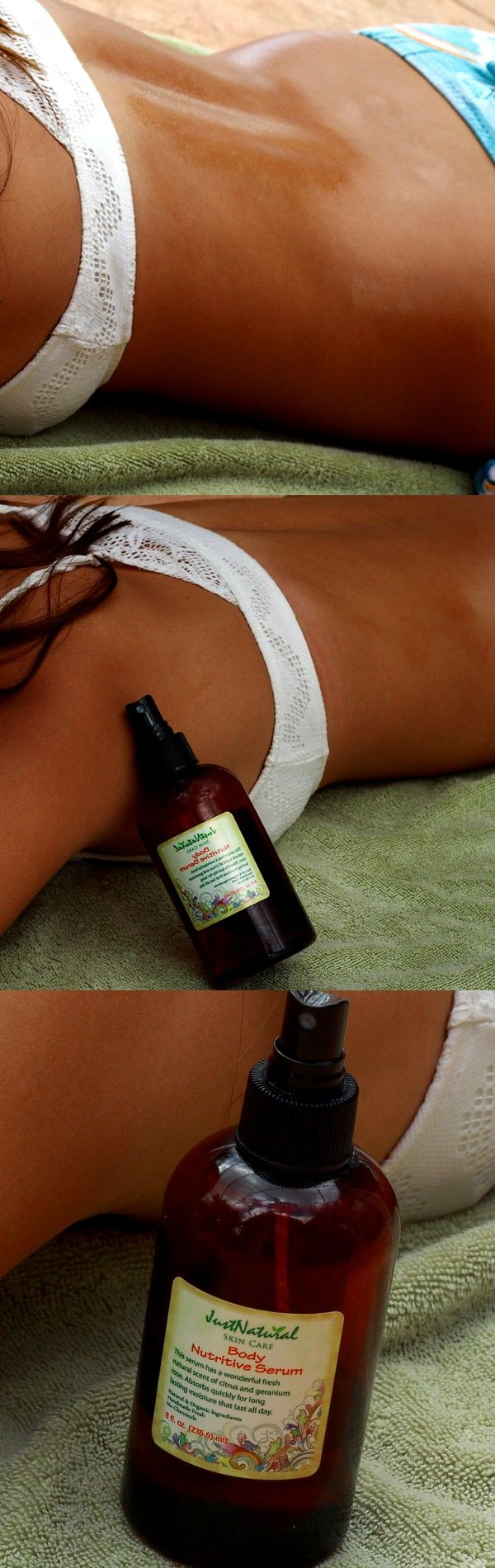 I have been using the body serum for the last 4 weekends outdoors and I am amazed at how my skin has tanned so beautifully! This has helped to fade so far many of my old stretch marks. I hope this company never changes the formula.
