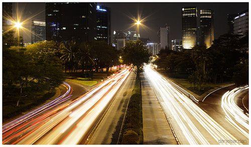 Citylights of Jln Jendral Sudirman - Jakarta, Indonesia