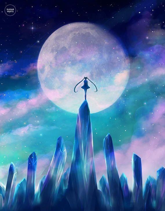 Pin By Meryem On Art Sailor Moon Usagi Moon Poster Sailor Moon Aesthetic