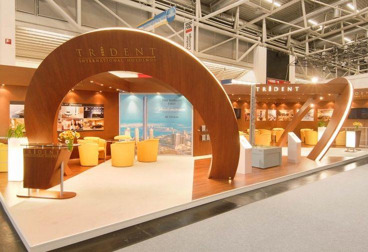 Bespoke exhibition stand design and build for Trident at the MIPIM Tradeshow Palais de Congres Paris, France.