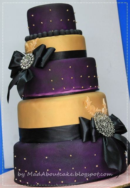 Purple and Gold Wedding Cakes | Mad About Cake: Deep purple and Gold Wedding Cake, Be BOLD\ purple silver carina