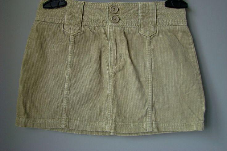 MINIGONNA Zara S M 42 marrone velluto coste marrone biege falda jupe rock skirt