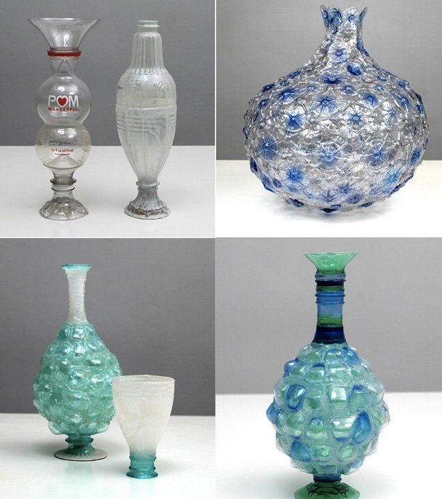 64 best images about vases on pinterest creative for Plastic bottle vase craft