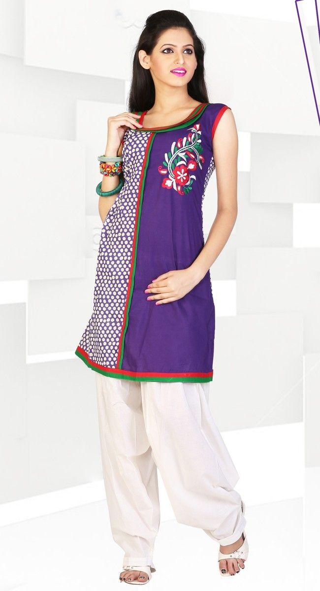 Plushy Violet Color Cotton #Kurti
