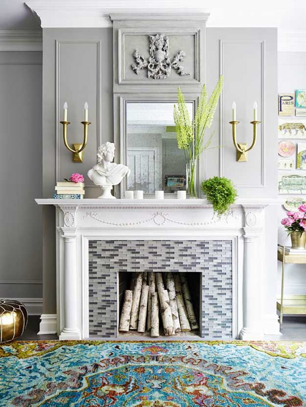 Vintage Fireplace  11 Fireplace Front Ideas For A Cozy & Homey Upgraded Look
