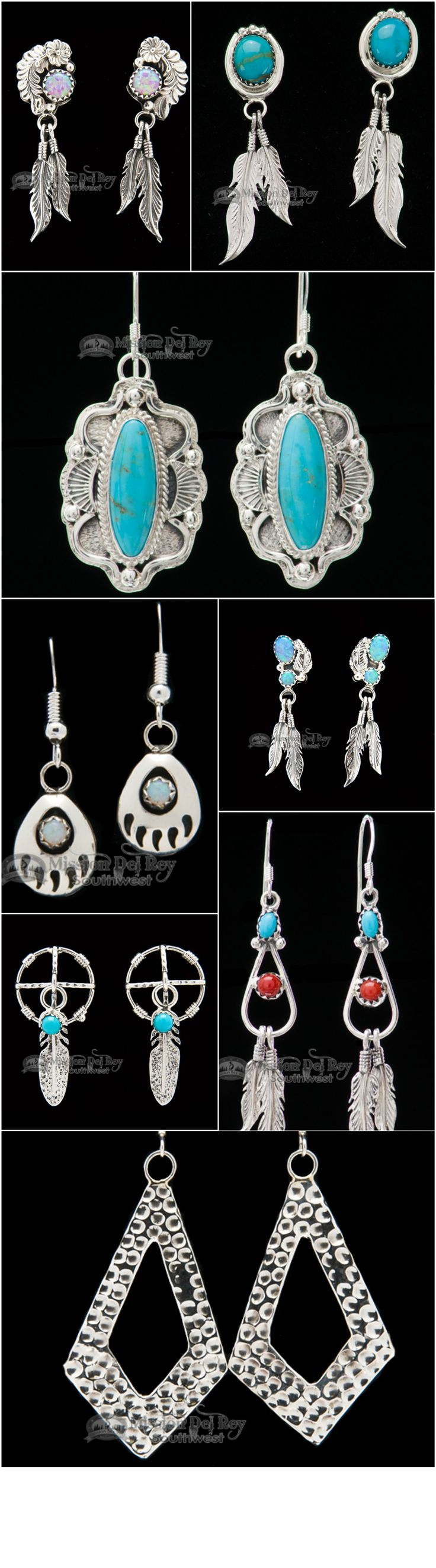 Silver Indian jewelry is very popular for those that love Native apparel and accessories.  Silver earrings are among the most popular pieces of Native silver jewelry, and can often be found with etchings, beads or precious stones. Native American beaded earrings come in a wide variety of colors and styles, and each piece of Indian jewelry is intricately handcrafted. If you like Native American style jewelry, you will love the great selection you find at Mission Del Rey.
