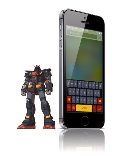 Gundam color keyboard concept