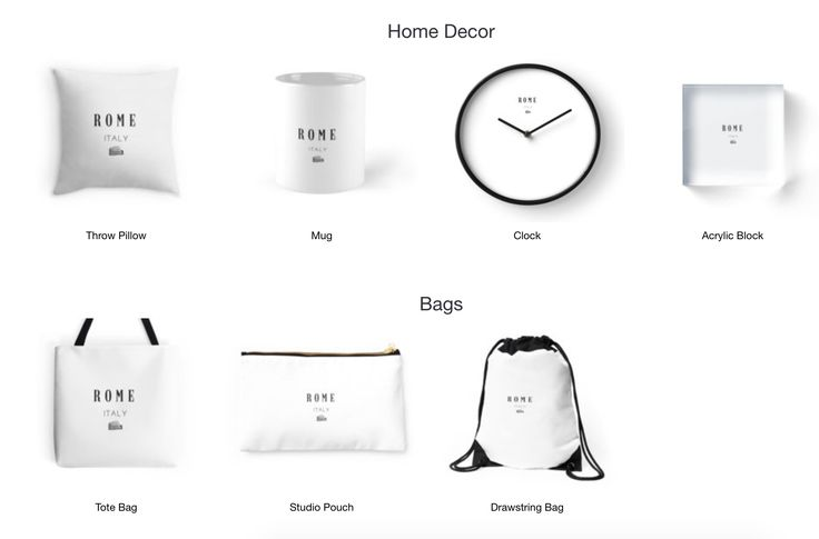 Rome!- Home Decor, Bags, T-shirts and more. Available on Redbubble now.