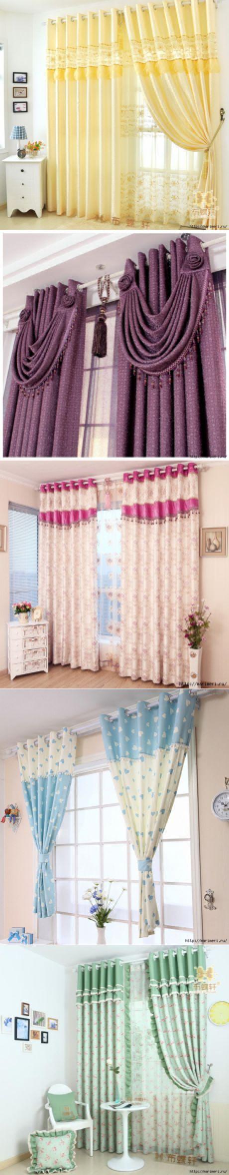 Las cortinas. Las ideas para la encarnación