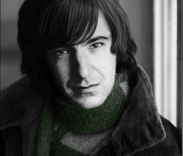Young Alan Rickman Looking Like A Beatle In The 1970 S With