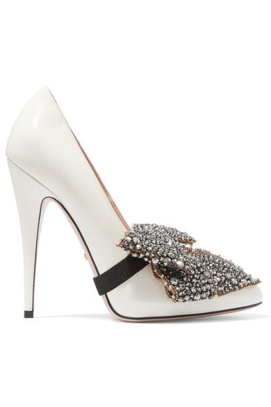 Heel measures approximately 120mm/ 5 inches White patent-leather Slip on Designer color: White Magnolia Made in Italy